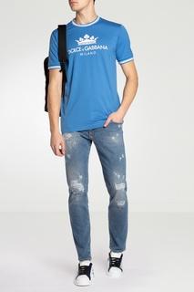 Зауженные голубые джинсы Dolce & Gabbana