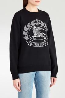 Черный джемпер с логотипом Burberry