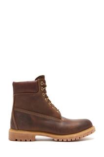 Темно-коричневые ботинки из нубука Timberland