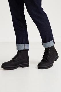 Высокие черные ботинки на шнуровке Timberland