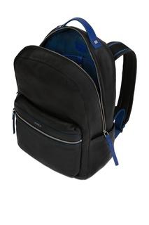 Черный рюкзак с синими полосками Furla