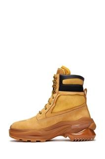 Коричневые ботинки на шнуровке Maison Margiela