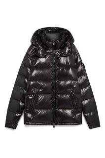 Стеганая куртка черного цвета Moncler