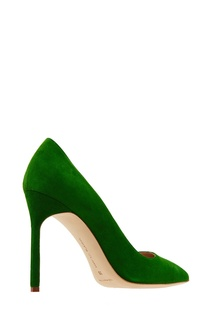 Зеленые замшевые туфли BB Manolo Blahnik