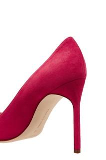 Розовые замшевые туфли BB Manolo Blahnik