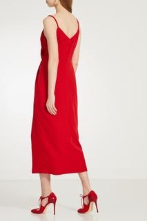 Красное платье на бретелях Laroom