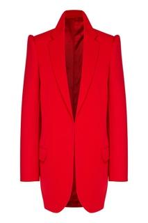 Красный пиджак с усиленной линией плеч Balenciaga