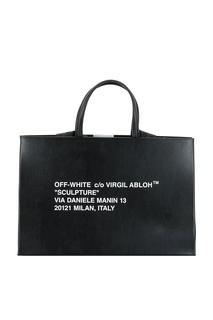 Черная сумка-тоут Off White