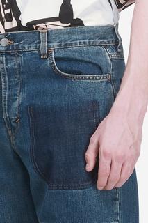 Синие джинсы с подворотами J.W. Anderson