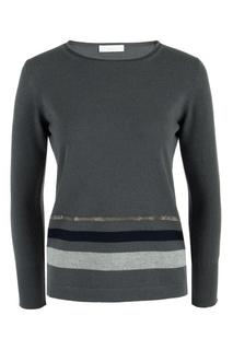 Серый шерстяной пуловер с цепочками Fabiana Filippi
