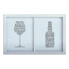 Копилка для винных пробок и пивных крышек СОРТА ВИН/ ПИВА 22x26 Белый KD-024-163 Дубравия