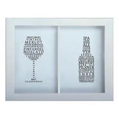 Копилка для винных пробок и пивных крышек СОРТА ВИН / ПИВА 29x45 Белый KD-024-175 Дубравия