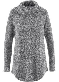 Пуловер-пончо с длинным рукавом Bonprix