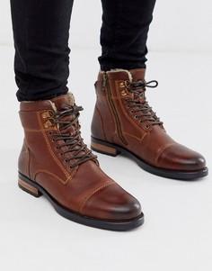 Коричневые кожаные походные ботинки Silver Street-Коричневый