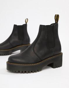 Черные кожаные ботинки челси на массивной каблуке Dr Martens Rometty-Черный