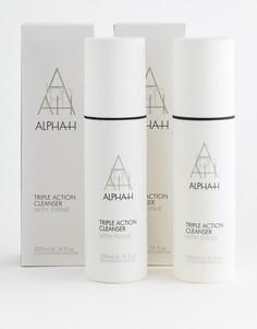 Набор из двух очищающих средств тройного действия Alpha-H Triple Action 200 мл - Скидка 50%-Бесцветный