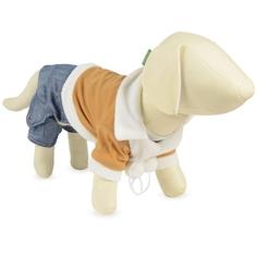Комбинезон для собак Triol размер S мужской, коричневый, синий, длина спины 25 см