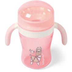 Поильник-непроливайка BabyOno 360° розовый, 240 мл