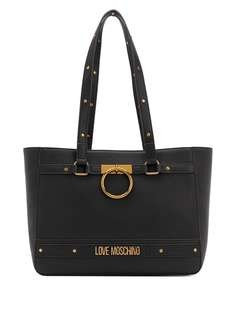Love Moschino сумка-тоут с логотипом и заклепками