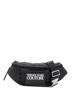 Versace Jeans Couture поясная сумка с контрастным логотипом