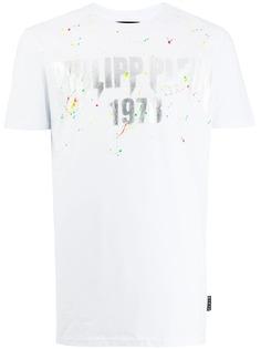 Philipp Plein футболка с эффектом разбрызганной краски