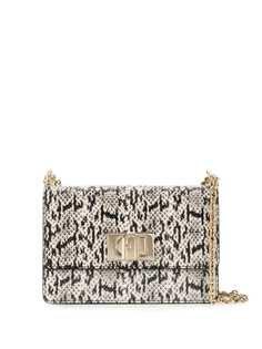 Furla snake-effect cross-body bag