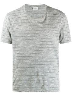 Saint Laurent полосатая футболка с короткими рукавами