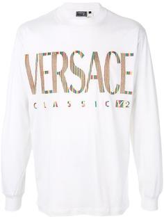 Versace Pre-Owned футболка с длинными рукавами и логотипом