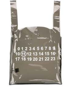 Maison Margiela прозрачная сумка-тоут с принтом