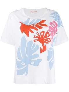 Marni футболка с принтом