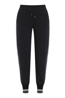 Черные брюки-джоггеры с отделкой Ermanno Scervino
