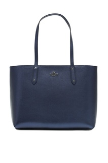 Синяя сумка Central Tote With Zip Coach