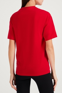 Красная футболка с логотипом Y-3