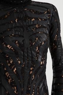 Платье из искусственной кожи с кружевом Amen.