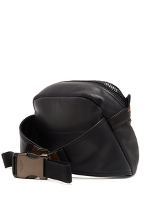 Черная кожаная сумка Pacer Coach
