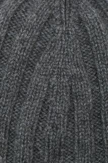 Темно-серая шапка с контрастным отворотом Viadeste