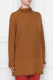 Коричневый свитер из смесовой шерсти Marina Rinaldi