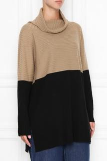 Двухцветный удлиненный свитер Marina Rinaldi