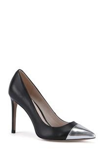 Черные кожаные туфли с контрастными носами Portal