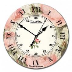 Настенные часы (33x33x4 см) Роза ретро 02-018 Династия