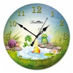 Настенные часы (33x33x4 см) Озерные жители 01-040 Династия