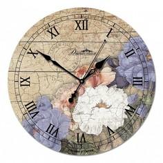 Настенные часы (33x33x4 см) Цветы 1 02-009 Династия