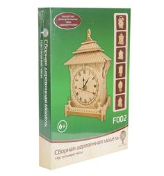 Сборная деревянная модель Wooden Toys Настольные часы