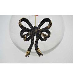 Елочное украшение Winter Wings Бант барокко черный/золотой 12 см