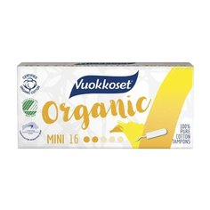 Vuokkoset тампоны Organic Mini 16 шт.