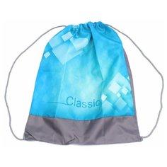 Проф-Пресс Мешок для обуви Classic 33x40 см (МО-5800) голубой/серый