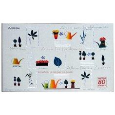 Альбом для рисования Кройтер Стиль Ирисы 60601-60602/82622 29.7 х 21 см (A4), 100 г/м², 80 л. белый