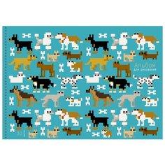 Альбом для рисования Unnika land Пиксельные собачки 29.7 х 21 см (A4), 110 г/м², 30 л.