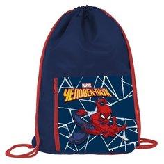 Hatber Мешок для обуви Человек паук (NMn_83024) синий/красный
