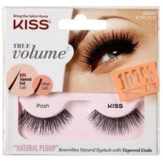 Kiss накладные ресницы True Volume Posh черный